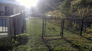 Chain Link Fence Installed