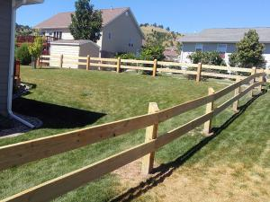 wood farm and ranch horse and livestock fence