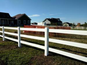 farm ranch vinyl fence