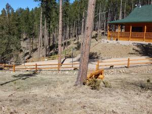 split rail wood fence,Deadwood, SD