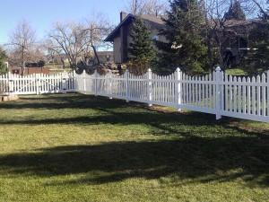 Vinyl Picket Fence Installed