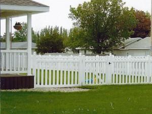 Vinyl Picket Fence Installation